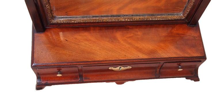 English 18th Century Mahogany Dressing Table Mirror For Sale