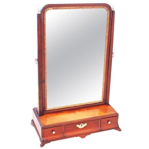 18th Century Mahogany Dressing Table Mirror
