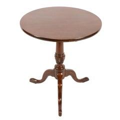 18th Century Mahogany Lamp Table