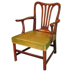 18th Century Mahogany Library Armchair