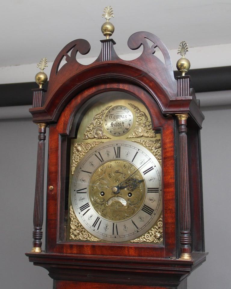 18th Century Mahogany Long Case Clock For Sale 4