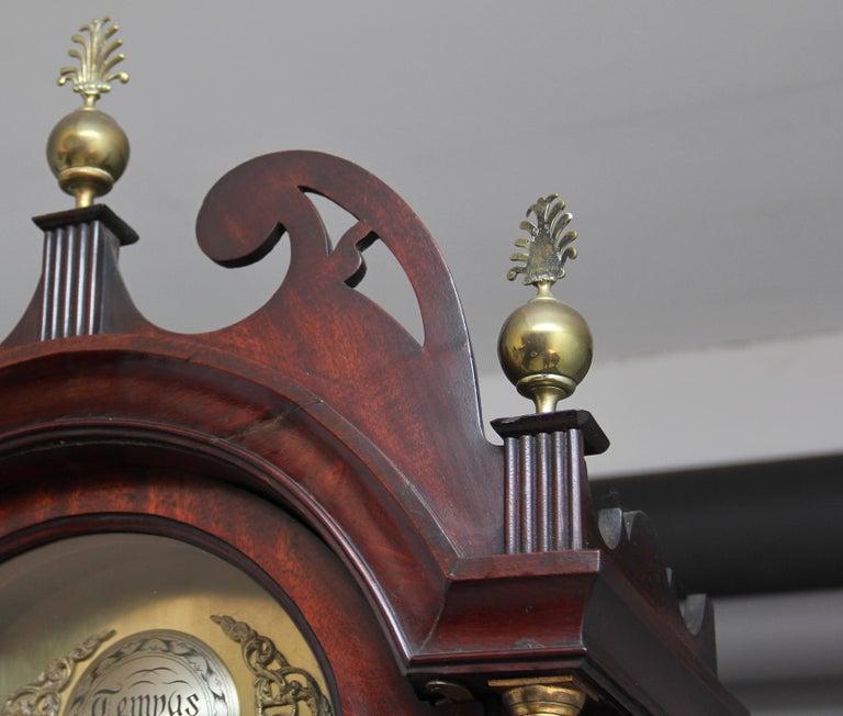 18th Century Mahogany Long Case Clock For Sale 5