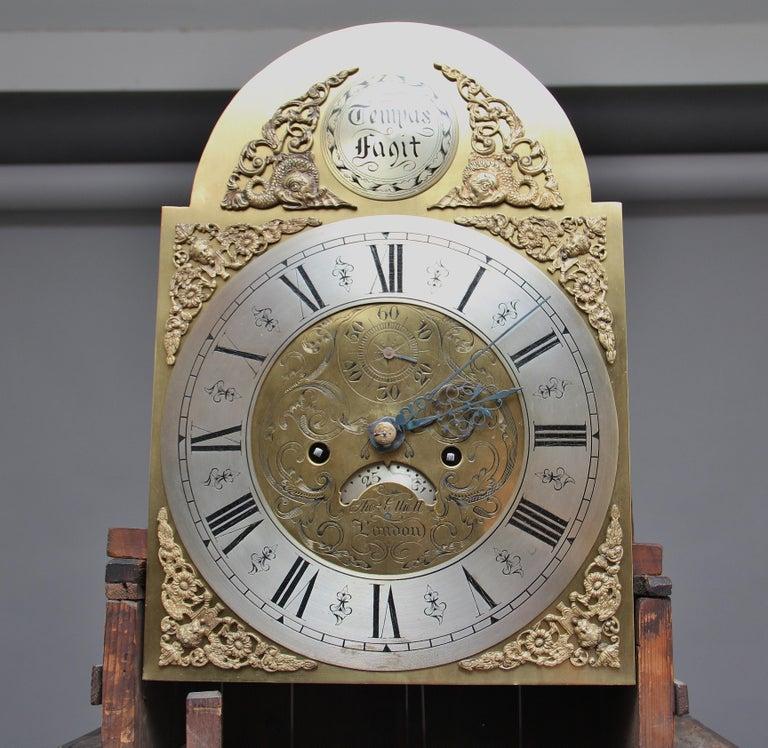 18th Century Mahogany Long Case Clock For Sale 7