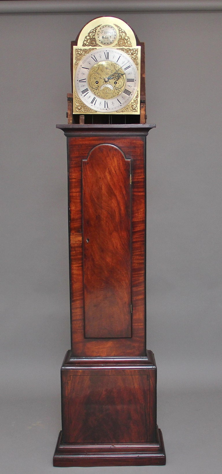 Georgian 18th Century Mahogany Long Case Clock For Sale