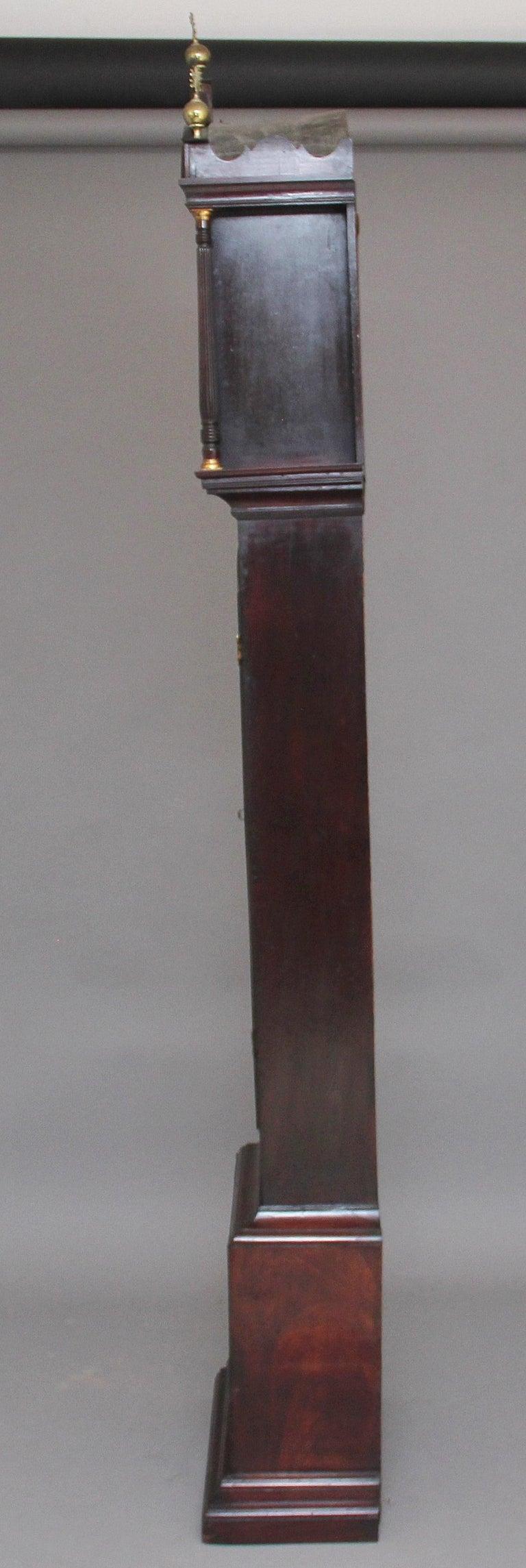 18th Century Mahogany Long Case Clock For Sale 1