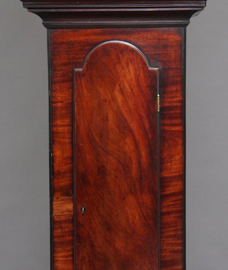 18th Century Mahogany Long Case Clock For Sale 2