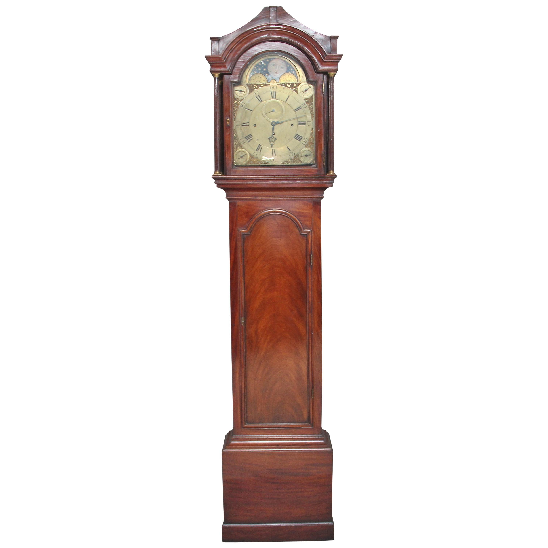 18th Century Mahogany Longcase Clock by John Wood of Grantham