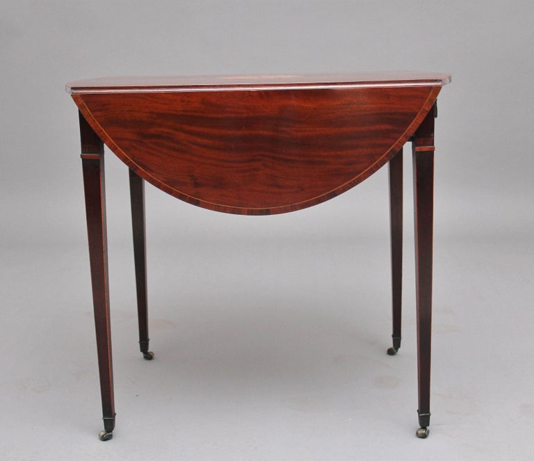 Georgian 18th Century Mahogany Pembroke Table For Sale