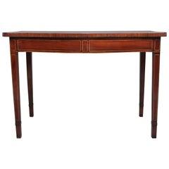 18th Century Mahogany Serpentine Serving Table