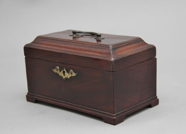 18th Century Mahogany Tea Caddy In Good Condition For Sale In Martlesham, GB