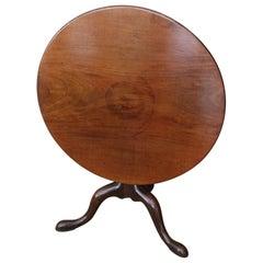 18th Century Mahogany Tilt-Top Table