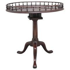 18th Century Mahogany Tripod Table with Decorative Gallery