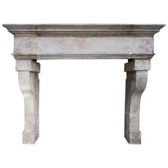 18th Century Mantle of French Limestone in Style of Louis XIII