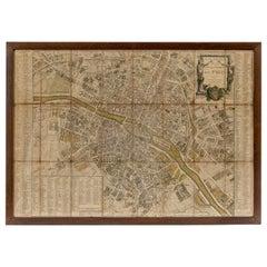 18th Century Map of Paris