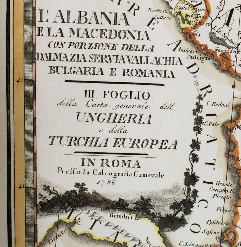 18th century map by Italian engraver Giovanni Maria Cassini (Italy 1745-1824).