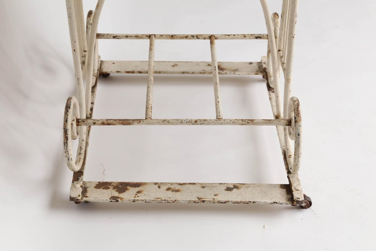18th Century Marble and Iron French Butcher Table For Sale 3