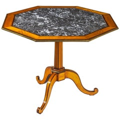 18th Century Octagonal Marble Top Center Table