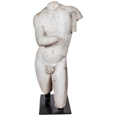 18th Century, Marble Torso of Apollo