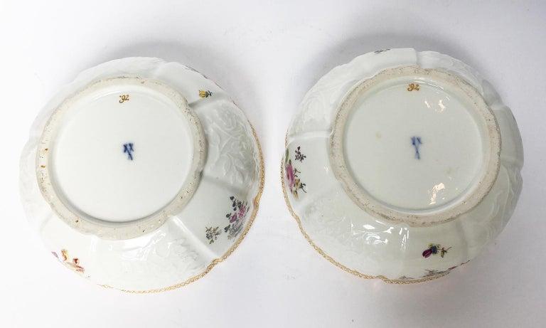 18th Century Meissen Pair of Porcelain Sugar Bowls, circa 1760 For Sale 8