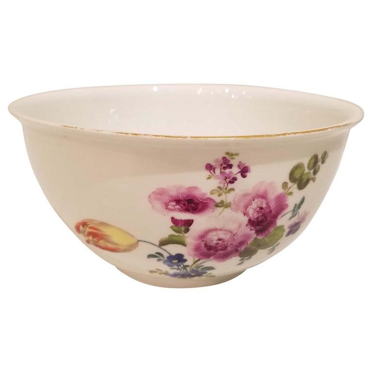 18th Century Meissen Porcelain Bowl For Sale