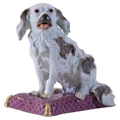 18th Century Meissen Porcelain Model of a King Charles Spaniel, J.J. Kändler