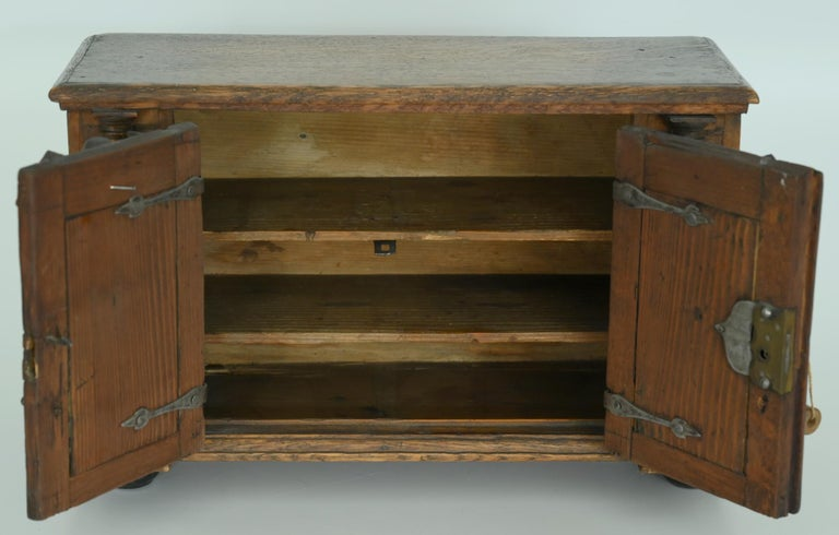 18th Century Model Sideboard Renaissance Style German Miniature Furniture For Sale 3