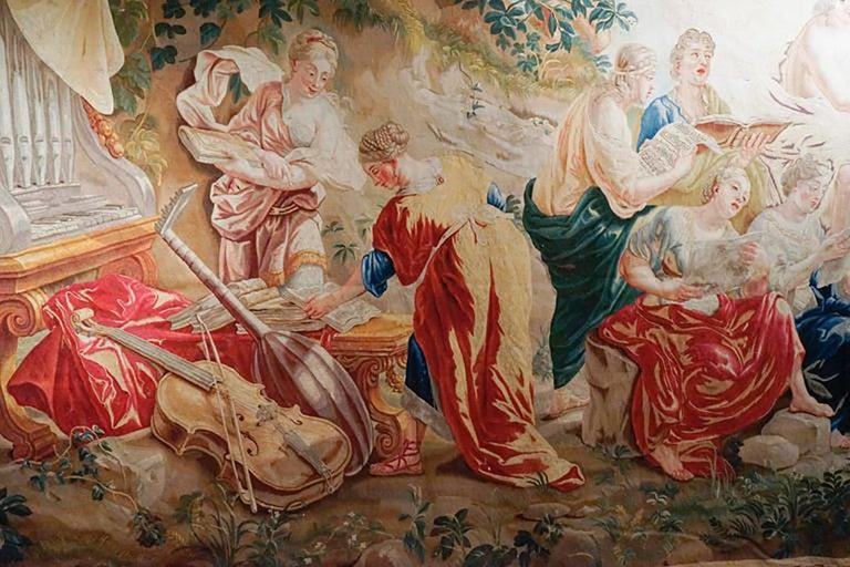 Belgian 18th Century Monumental Antique Tapestry from Brussels, Wedding of Psyché For Sale