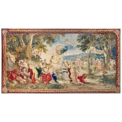 18th Century Monumental Antique Tapestry from Brussels, Wedding of Psyché