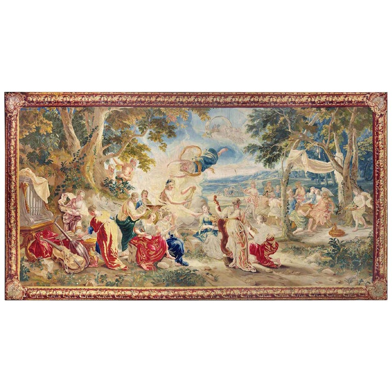 18th Century Monumental Antique Tapestry from Brussels, Wedding of Psyché For Sale