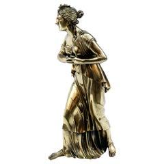 18th Century Neoclassical Bronze Doré Sculpture of a Woman