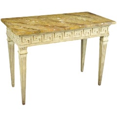 18th Century Neoclassical Console Table with a Greek Key Border