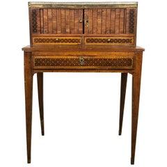 18th Century Neoclassical Louis XVI Italian Walnut Table Desk