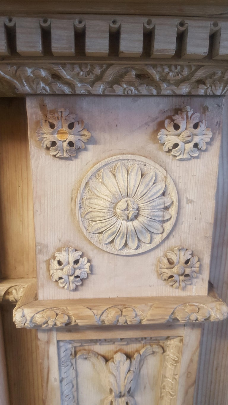 18th Century Neoclassical Pine Mantel For Sale 1