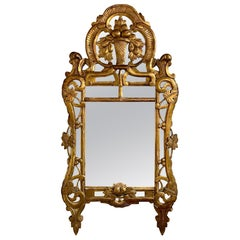 18th Century Northern Italian Carved and Giltwood Mirror