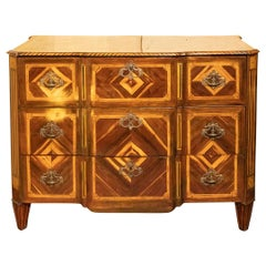 18th Century Northern Italian Chest of Drawers with Geometric Inlay