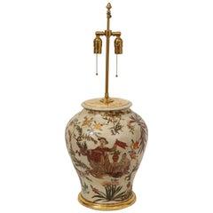 18th Century Northern Italian Lacca Povera Terracotta Vase Lamp