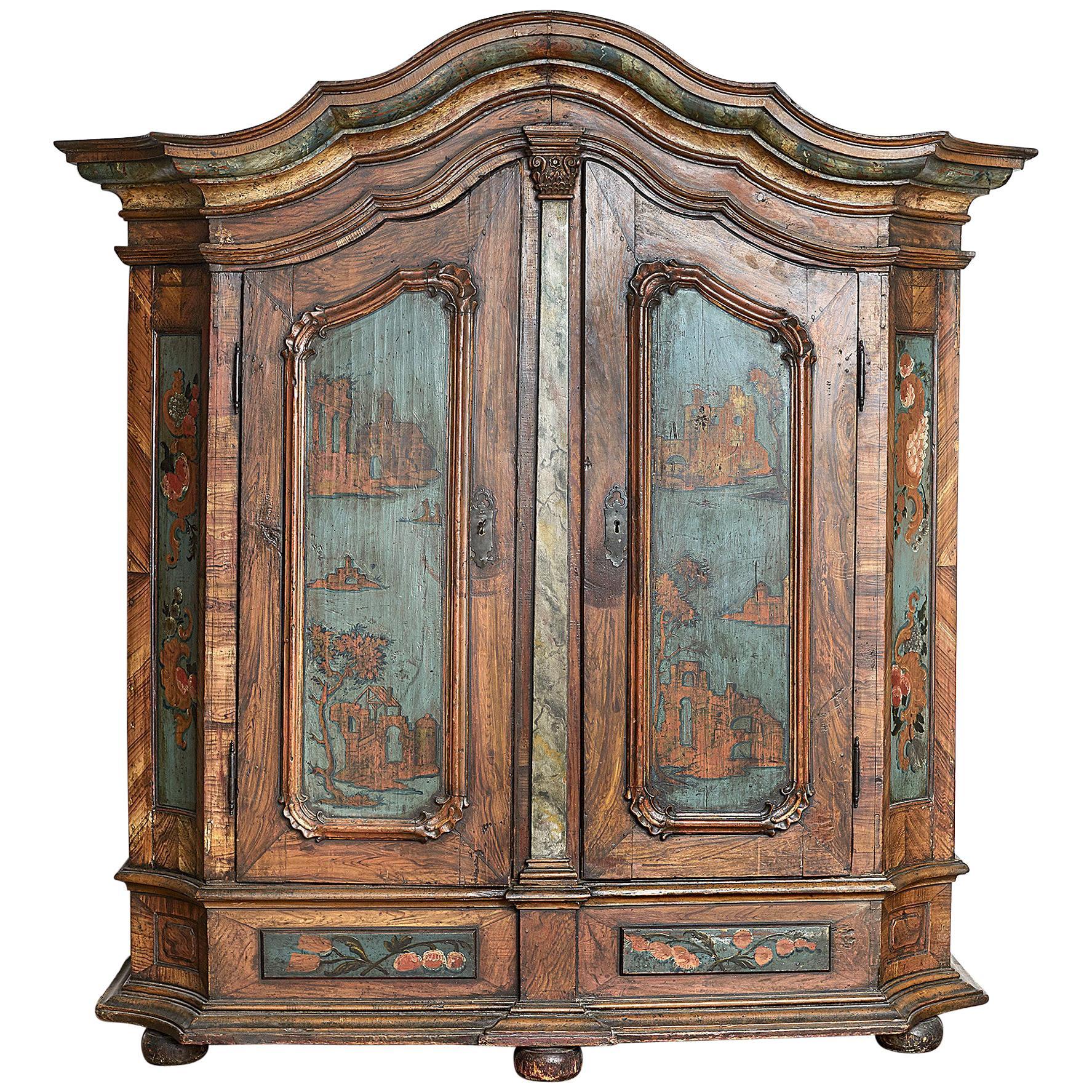 18th Century Norwegian Rococo Cabinet