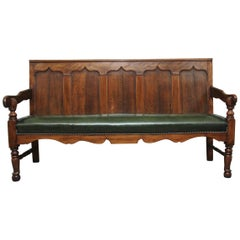 18th Century Oak and Fruitwood Settle