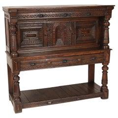 18th Century Oak Court Cupboard