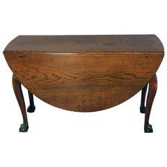18th Century Oak Drop-Leaf Dining Table