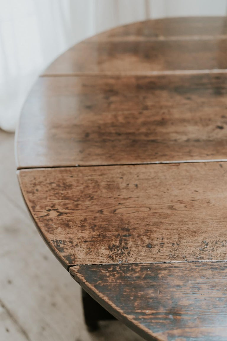 Best patina ever on this stunning oak gateleg table from the West Country in England,
