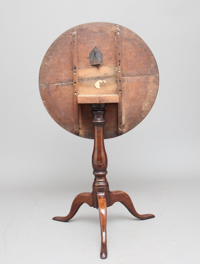 18th Century Oak Tripod Table In Good Condition For Sale In Martlesham, GB