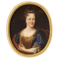 18th Century Oil on Canvas Antique French Portrait Painting, 1770