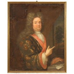 18th Century Oil on Canvas Antique French Portrait Painting, 1780