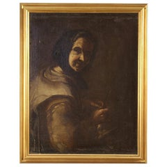 18th Century Oil on Canvas Antique Italian Portrait Painting, 1780