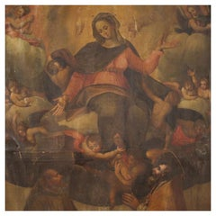 18th Century Oil on Canvas Antique Italian Religious Painting, 1720