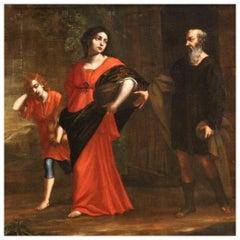 18th Century Oil on Canvas Antique Italian Religious Painting, 1750