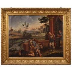 18th Century Oil on Canvas Antique Italian Religious Painting, 1770