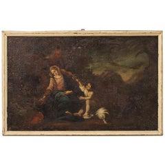 18th Century Oil on Canvas Antique Italian Religious Painting, 1780