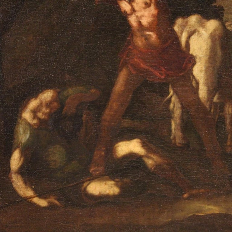 18th Century Oil on Canvas Italian Antique Mythological Painting, 1770 For Sale 2